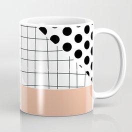 minimal abstract coral Coffee Mug