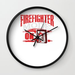 Firefighter Mode On Search Rescue Wall Clock