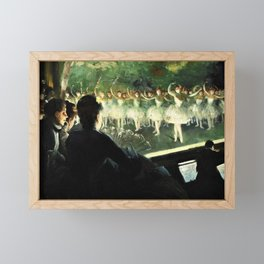 The White Ballet - Everett Shinn Framed Mini Art Print