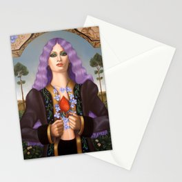 Violets for Heart Veins Stationery Cards