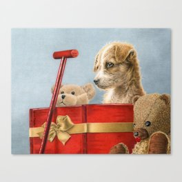 What Santa Left One Year Canvas Print
