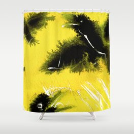 Totem Raven on the air Shower Curtain