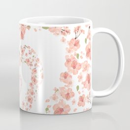 Modern coral pink watercolor valentine's hearts floral Coffee Mug