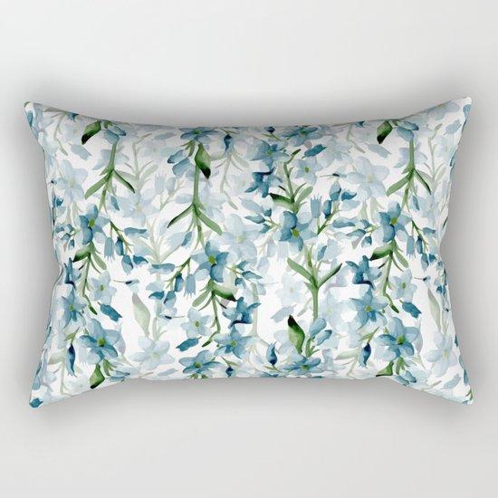 Blue branches Rectangular Pillow