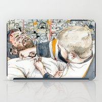 hockey iPad Cases featuring Hockey fight by Chris Gauvain