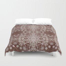 brown Mandala Duvet Cover
