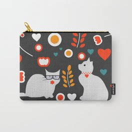 Valentine decor with cats Carry-All Pouch