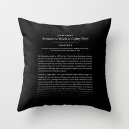 Around the world in 80 days Throw Pillow