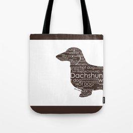 Half a Hot Dog (Front) - Dark Chocolate Brown Tote Bag