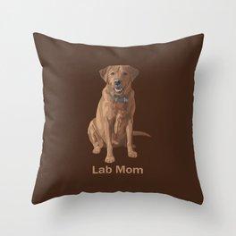 Lab Mom Fox Red Yellow Labrador Retriever Dog Throw Pillow