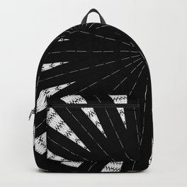 Black White mandala Design Backpack