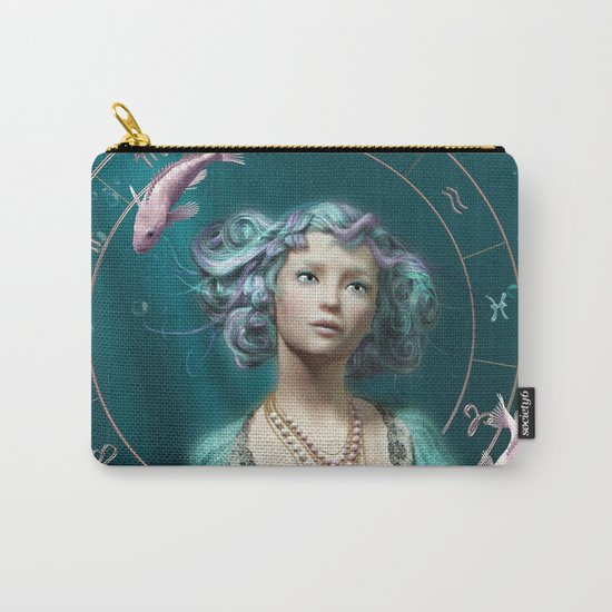Pisces zodiac fantasy circle Carry-All Pouch