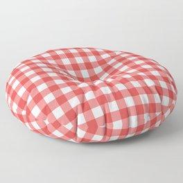 Red gingham pattern Floor Pillow