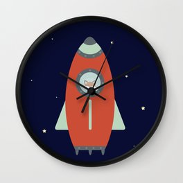 Fox Rocket Wall Clock