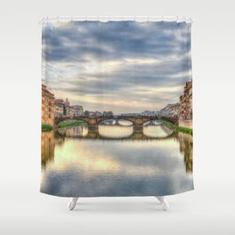 Italy Florence Arno Shower Curtain