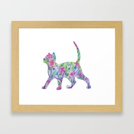 Flora in Pink Framed Art Print