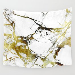 Gold-White Marble Impress Wall Tapestry