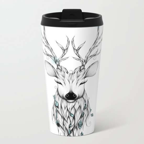 Poetic Deer Metal Travel Mug
