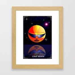 COOL MOON. Framed Art Print