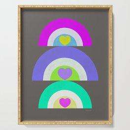 Rainbow Love - Purple Green Serving Tray
