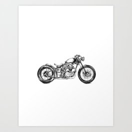 Deus Ex Machina Motorbike (portrait) Art Print