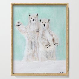 Polar bears Serving Tray