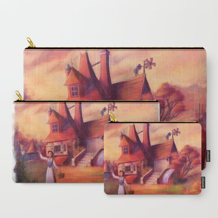 A_Peculiar_Girl_CarryAll_Pouch_by_Glimpen__Set_of_3