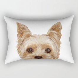 Yorkshire Terrier original painting print Rectangular Pillow