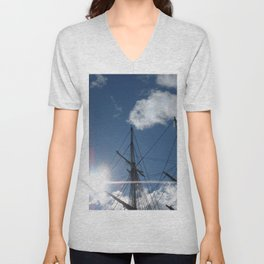 Salem Wooden ship Unisex V-Neck