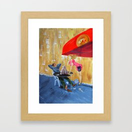 Drink and play Framed Art Print