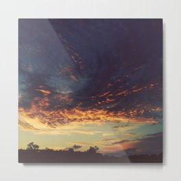 Blue & Gold Sunset Metal Print