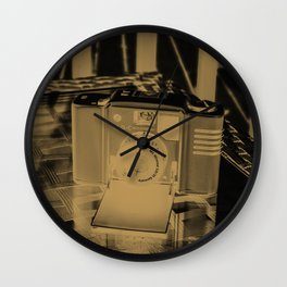 Golden Minox Wall Clock