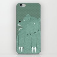 bear iPhone & iPod Skins featuring Friendly Bear by Sarajea