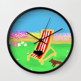 Peace in the garden Wall Clock