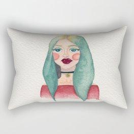 Aqua Girl Rectangular Pillow