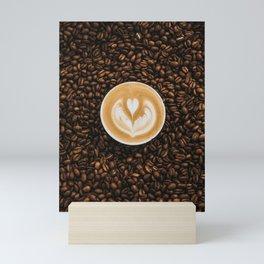 Coffee Beans & Coffee Cup Mini Art Print