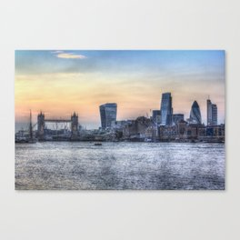 Evening In London Canvas Print