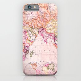 Vintage Map Pattern iPhone Case