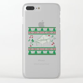 Piano Christmas Clear iPhone Case