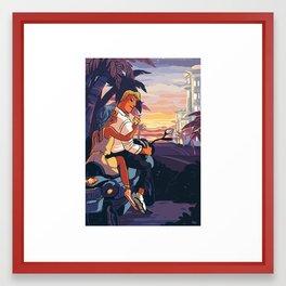 date at dusk Framed Art Print