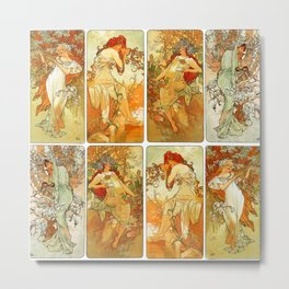 "Alphonse Mucha ""The Seasons (series)"" (1896) Metal Print"