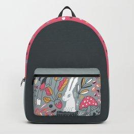 Botanical blockprint bunny Backpack