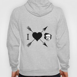 I Love (Heart) Edgar Allan Poe Hoody
