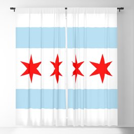 Chicago Flag Blackout Curtain