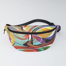 Colorful Abstract Whirly Swirls - V1 Fanny Pack