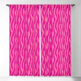 Pink Zebra Print Pattern Blackout Curtain