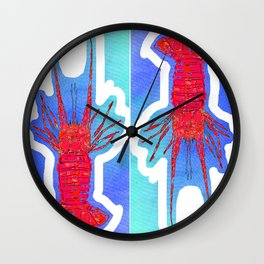 lobster nautical beach costal  Wall Clock