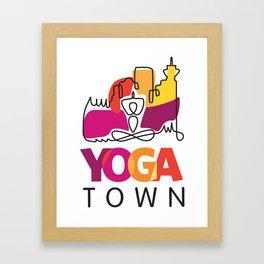 Yoga Town  Framed Art Print