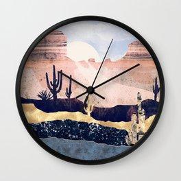 Autumn Desert Wall Clock