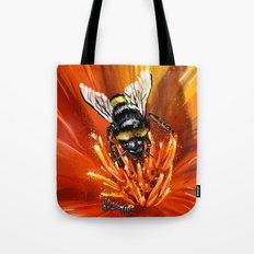 Bee on flower 1 Tote Bag